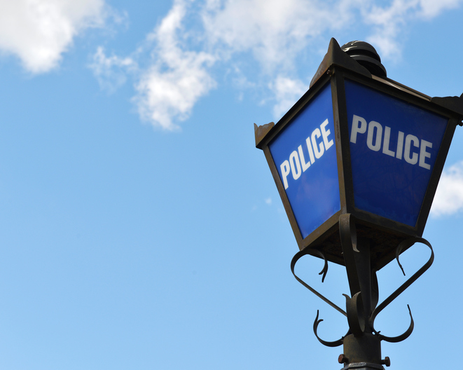 British Police Blue lamp
