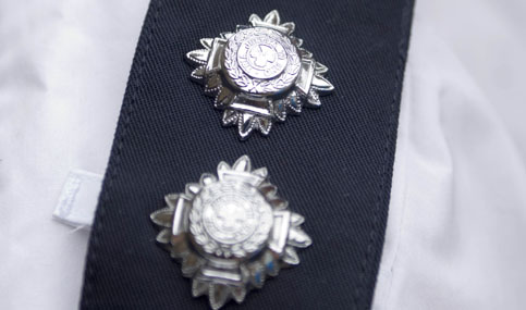 generic images of a police officers uniform, 6-5-2006